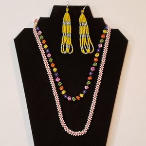 BOHO NECKLACE & EARRINGS